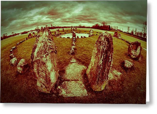 Stone Circle Greeting Card by David Isaacson