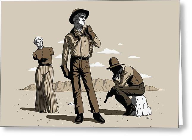 Stone-cold Western Greeting Card
