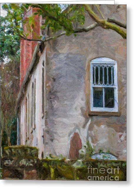 Stone Cottage Greeting Card by Dale Powell