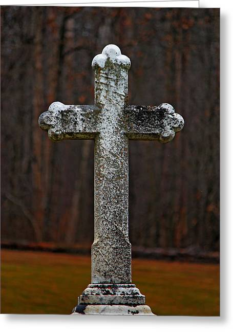 Stone Cross Greeting Card by Rowana Ray