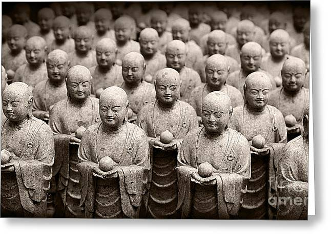 Stone Figures Of Jizo Greeting Card