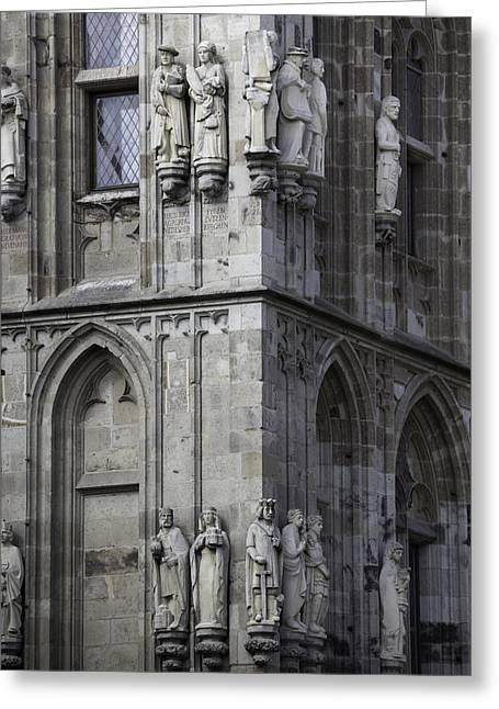 Stone Figures On Rathaus Cologne Germany Greeting Card by Teresa Mucha