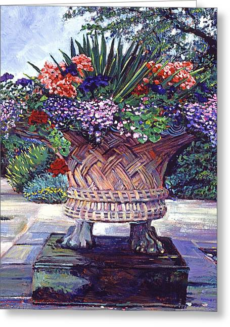 Stone Garden Ornament Greeting Card by David Lloyd Glover