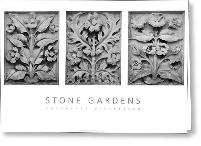 Greeting Card featuring the digital art Stone Gardens 1 Naturally Distressed Poster by David Davies