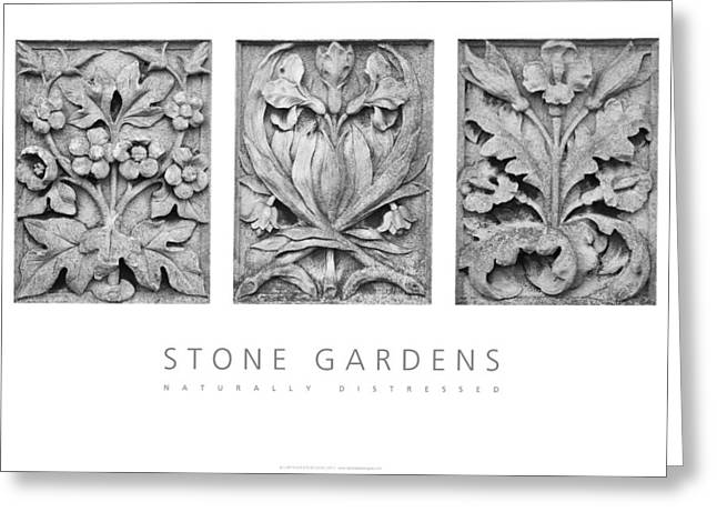 Greeting Card featuring the digital art Stone Gardens 2 Naturally Distressed Poster by David Davies