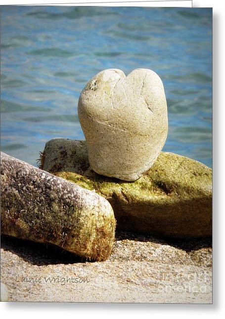 Stone Heart  Greeting Card by Lainie Wrightson