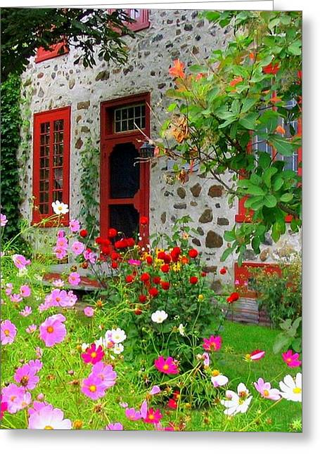 Stone House In The Country Greeting Card by Rick Todaro