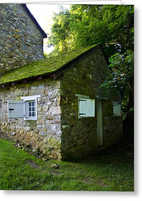 Stone House With Mossy Roof Greeting Card by Bill Cannon