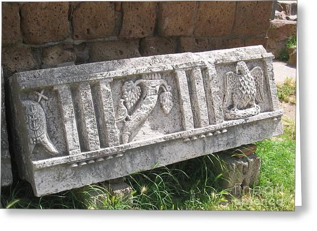 Stone In Tarquinia Greeting Card