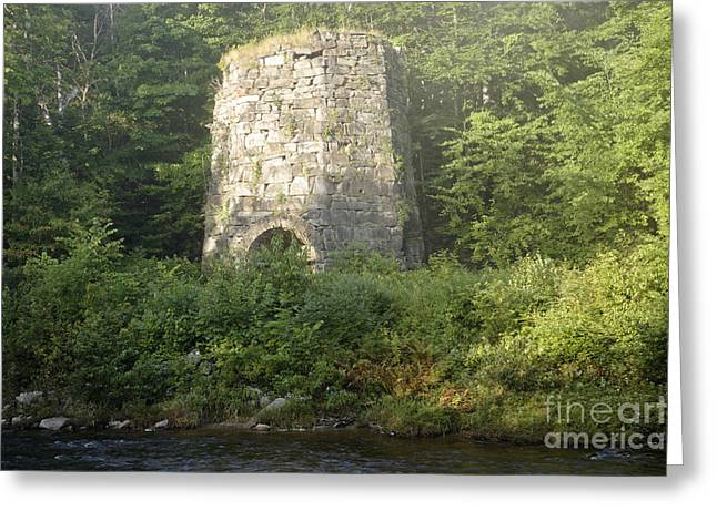 Stone Iron Furnace - Franconia New Hampshire Greeting Card by Erin Paul Donovan