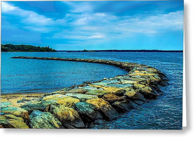 Stone Jetty Greeting Card