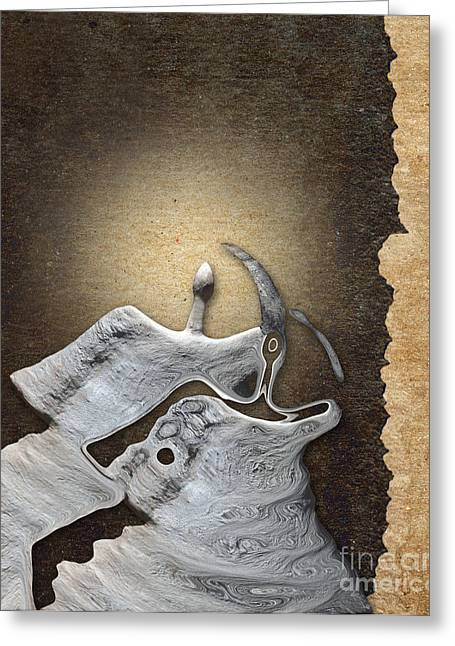 Stone Men 29 - Love Rythm Greeting Card by Variance Collections