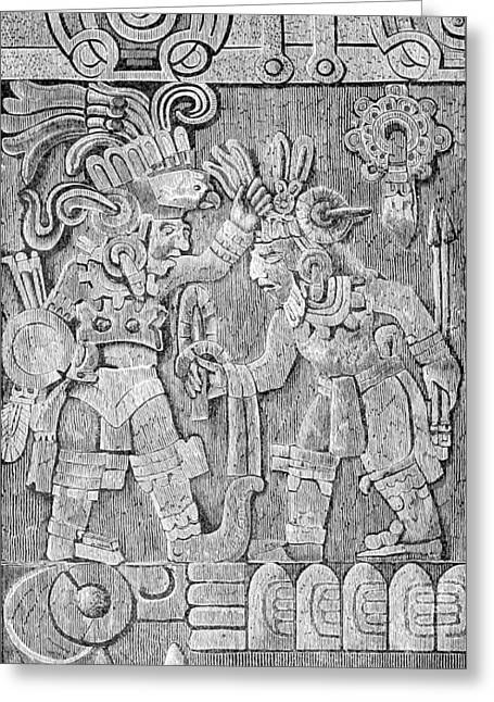 Stone Of Tizoc, Aztec Sacrificial Stone Greeting Card by British Library