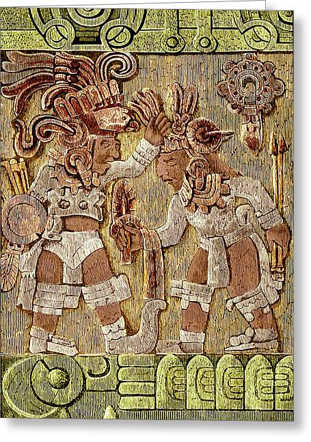 Stone Of Tizoc, Aztec Sacrificial Stone Greeting Card by Science Source