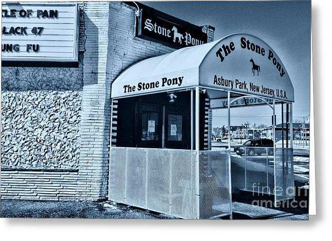 Stone Pony Cool Blue Greeting Card by Paul Ward
