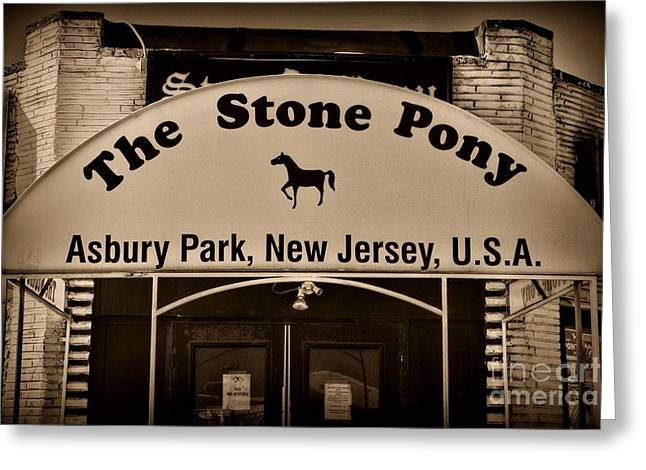 Stone Pony Enter Here Greeting Card