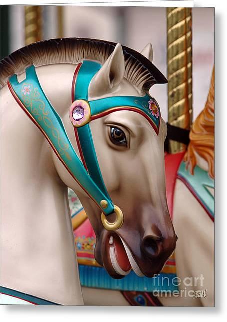 Stone Pony Greeting Card by Sami Martin