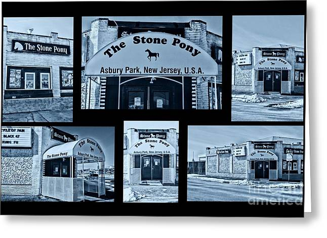 Stone Pony Tribute Cool Greeting Card by Paul Ward