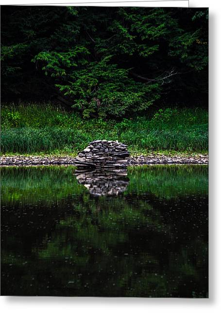 Stone Reflection Greeting Card