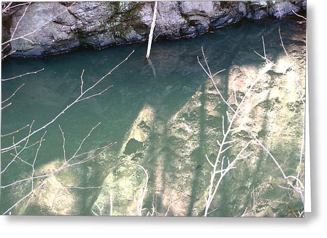 Greeting Card featuring the photograph Stone Reflection In Water by Melissa Stoudt