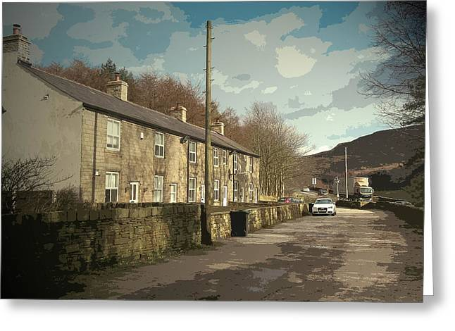 Stone Row In Crowden, The Youth Hostel That Was Situated Greeting Card by Litz Collection