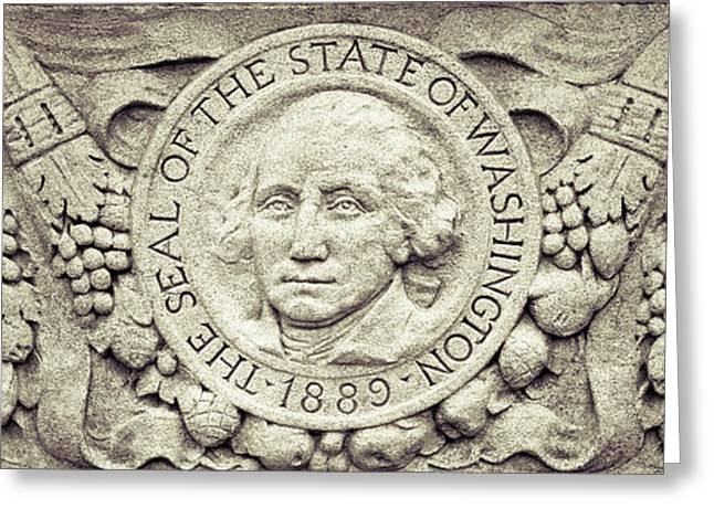 Stone Seal Of The State Of Washington Greeting Card