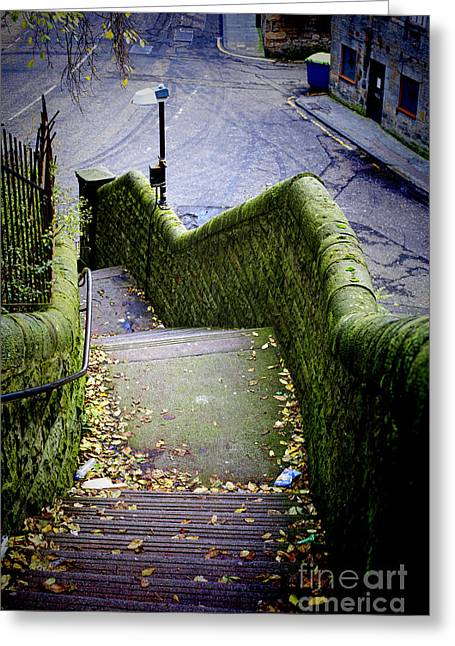 Greeting Card featuring the photograph Stone Staircase by Craig B