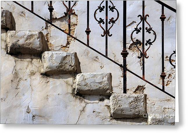 Stone Stairs Greeting Card by Dan Holm