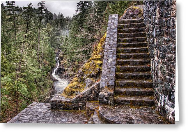 Stone Stairs To Nowhere Greeting Card by James Wheeler