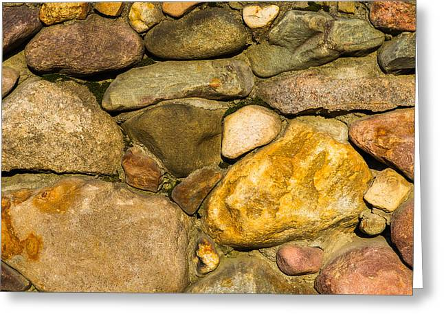 Stone Wall - Featured 3 Greeting Card by Alexander Senin