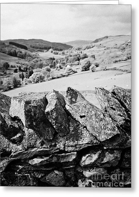 Stone Wall Longsleddale Valley Cumbria Uk Greeting Card