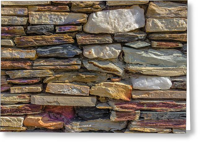 Stone Wall Greeting Card by Paul Donohoe