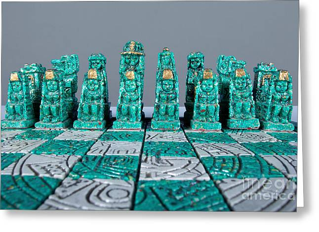 Stoned On Chess Greeting Card by Alan Look