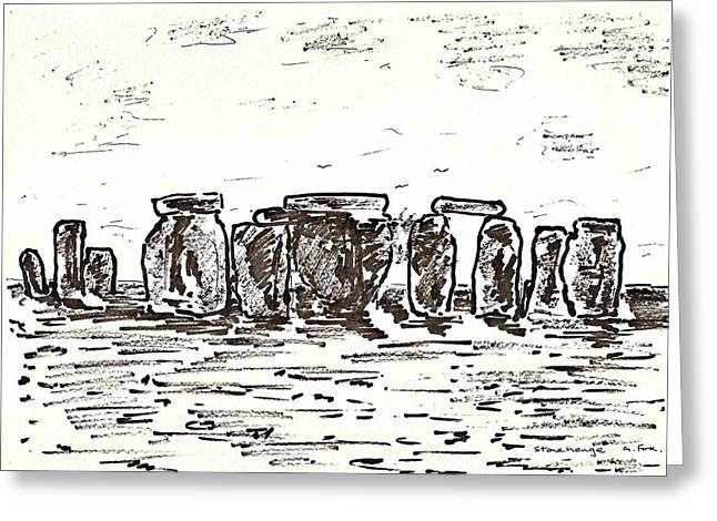 Stonehenge Greeting Card by Anthony Fox