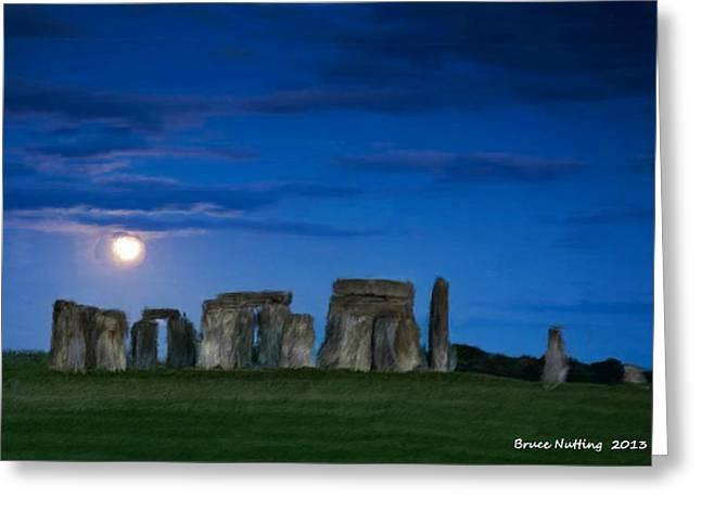 Stonehenge At Night Greeting Card