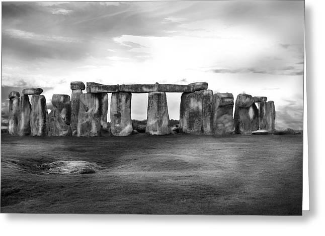 Stonehenge In The Rain Greeting Card