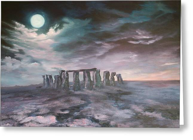 Stonehenge In Wiltshire Greeting Card by Jean Walker