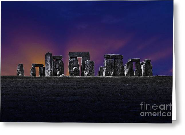 Greeting Card featuring the photograph Stonehenge Looking Moody by Terri Waters