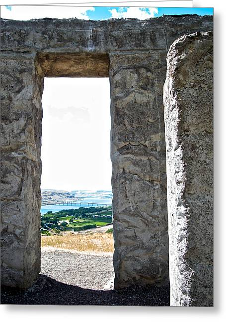 Greeting Card featuring the photograph Stonehenge Overlooking The Columbia River At Maryhill-wa- by Ruth Hager