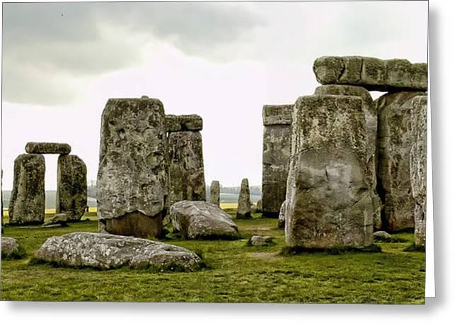 Stonehenge Panorama Greeting Card by Jon Berghoff