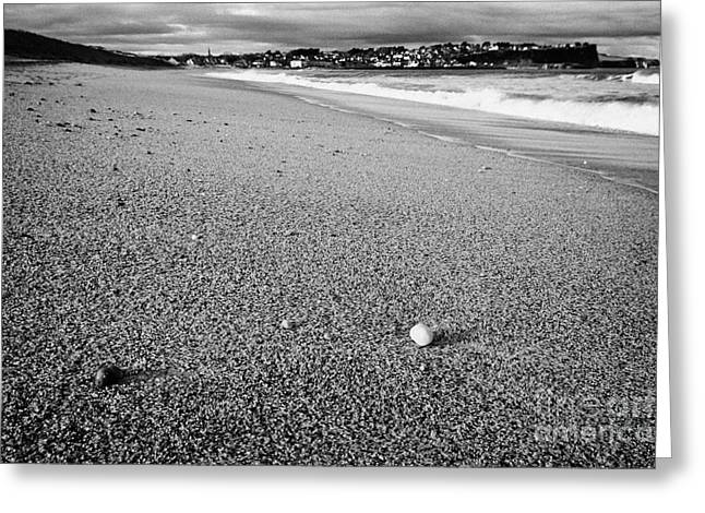 Stones And Pebbles On Ballycastle Beach In Winter County Antrim Northern Ireland Greeting Card