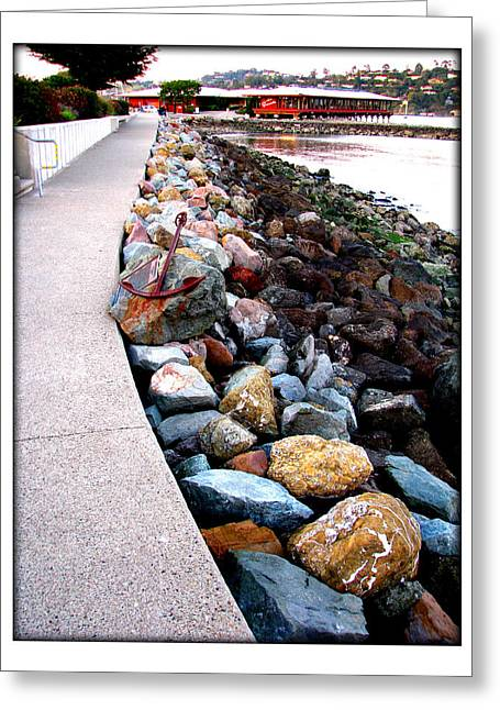 Stones At The Bay... Greeting Card by Lisa Alex