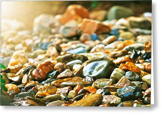Stones Greeting Card by Debbie Sikes