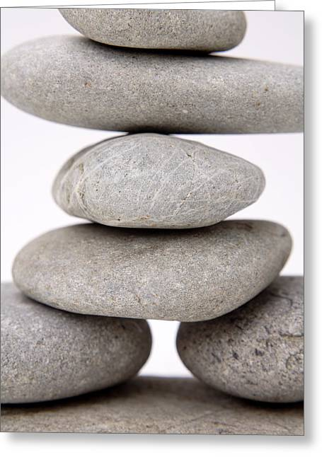 Stones Greeting Card by Les Cunliffe