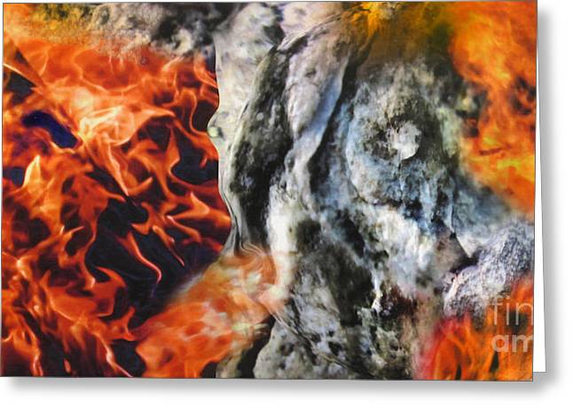 Stones On Fire 1 Greeting Card