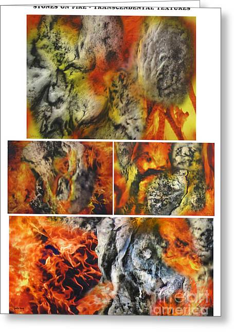Stones On Fire Transcendental Textures Greeting Card