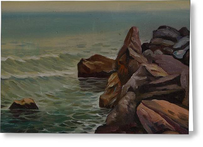 Stones On The Sea Side Greeting Card by Stefan Shikerov