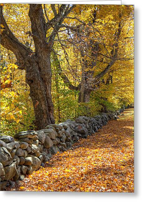 Stonewall In Autumn Greeting Card by Donna Doherty
