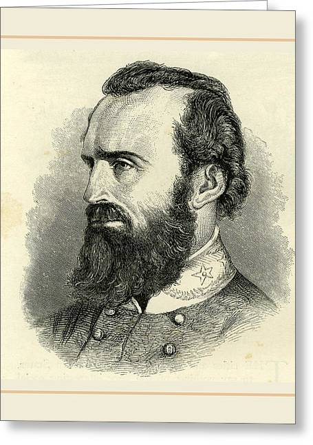 Stonewall Jackson, Usa 19th Century Greeting Card by Liszt collection
