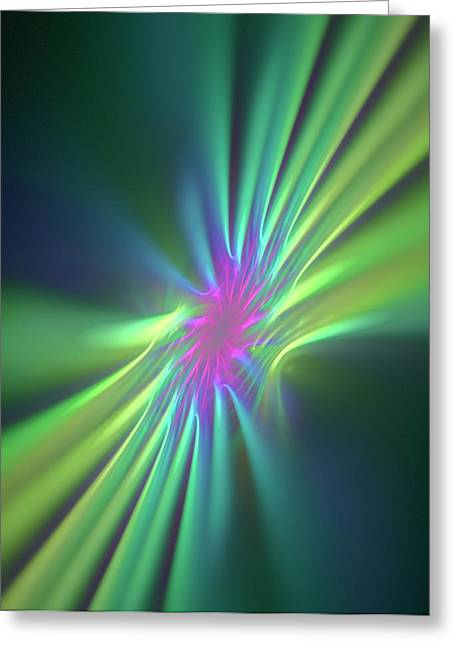 Stong Nuclear Force Conceptual Artwork Greeting Card by David Parker
